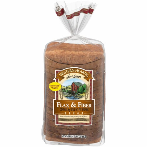 Western Hearth Omega 3 Flax & Fiber Widepan Bread Perspective: front