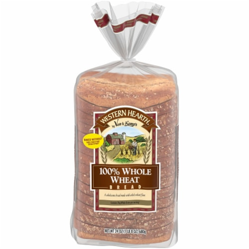 Western Hearth 100% Whole Wheat Bread Perspective: front