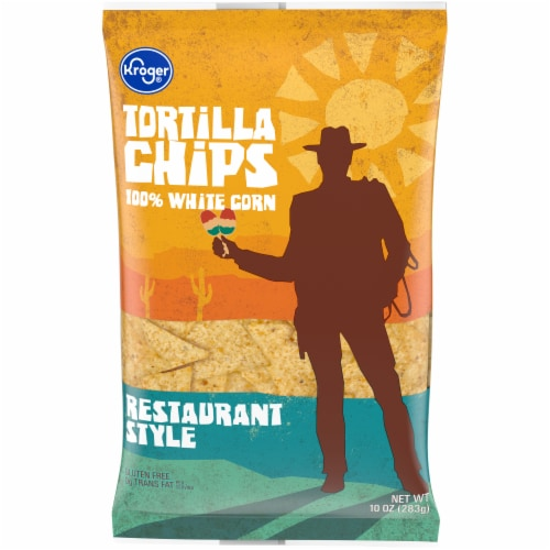 Kroger® Restaurant Style White Tortilla Chips Perspective: front
