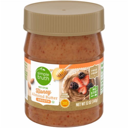 Simple Truth® No Stir Smooth Honey Almond Butter Perspective: front