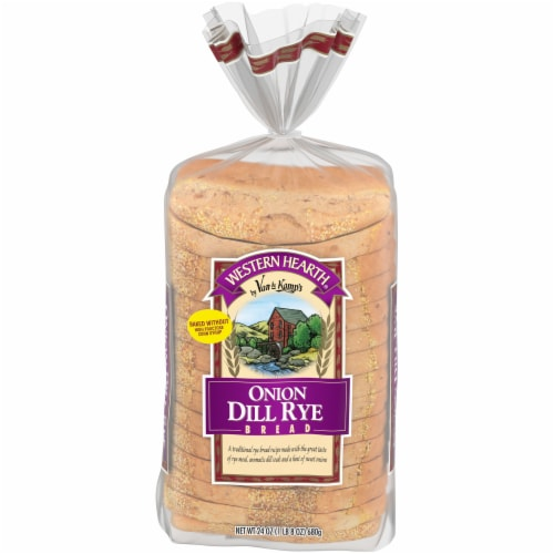 Western Hearth® Onion Dill Rye Wide Pan Bread Perspective: front