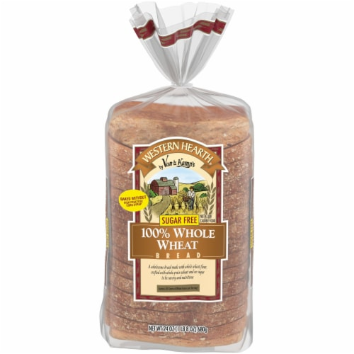 Western Hearth® Sugar Free Wide Pan 100% Whole Wheat Bread Perspective: front