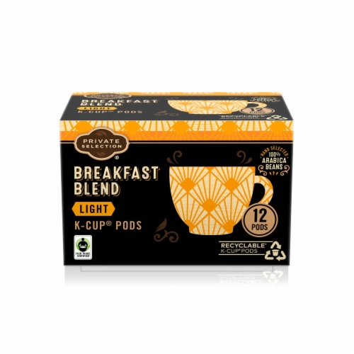 Private Selection® Breakfast Blend Light Roast Coffee K-Cup Pods Perspective: front