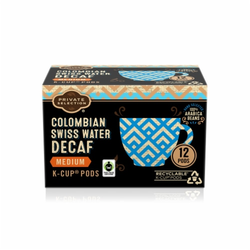 Private Selection® Cololmbian Swiss Water Medium Roast Decaf Coffee K-Cup Pods Perspective: front
