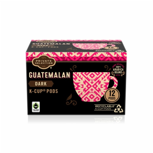 Private Selection® Guatemalan Dark Roast Coffee K-Cup Pods Perspective: front