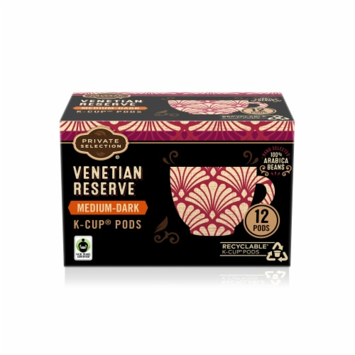 Private Selection® Venetian Reserve Medium-Dark Roast Coffee K-Cup Pods Perspective: front