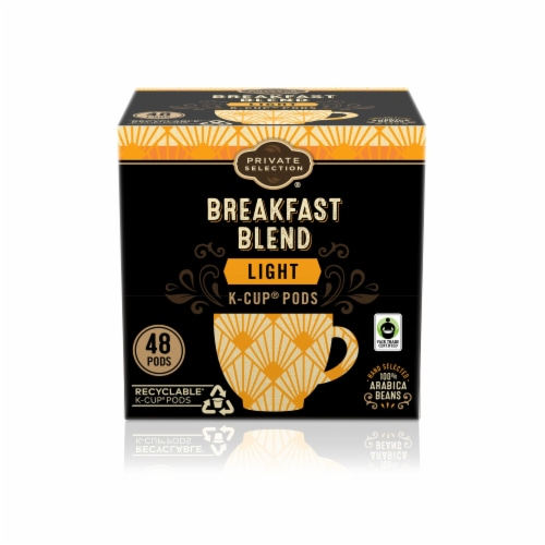 Private Selection® Fair Trade Breakfast Blend Light Roast Coffee K-Cup Pods Perspective: front