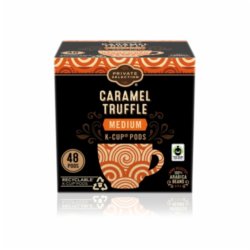 Private Selection® Fair Trade Caramel Truffle Medium Roast Coffee K-Cup Pods Perspective: front