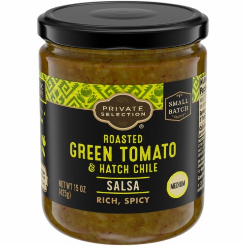Private Selection® Roasted Green Tomato & Hatch Chili Salsa Perspective: front