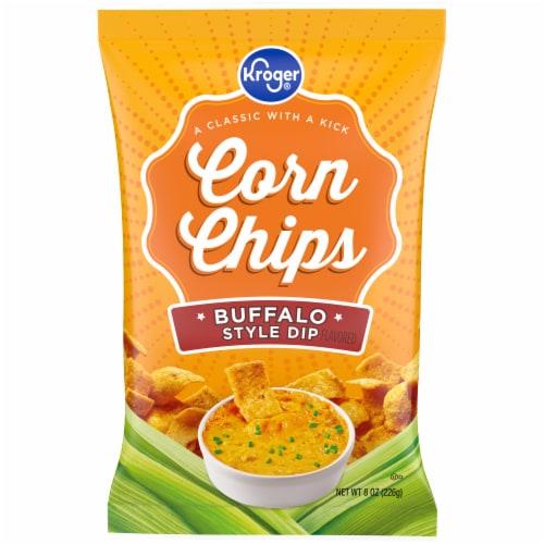 Kroger Buffalo Dip Corn Chip Perspective: front