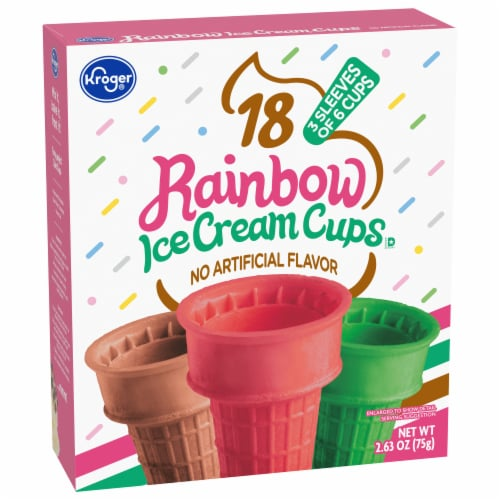 Kroger® Rainbow Ice Cream Cups Perspective: front