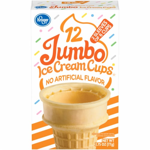 Kroger® Jumbo Ice Cream Cups Perspective: front