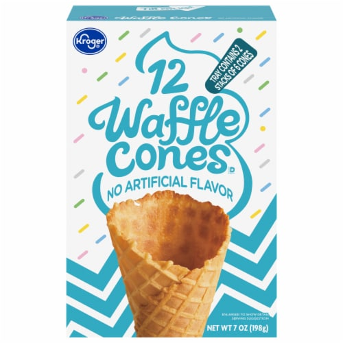 Kroger® Waffle Cones Perspective: front