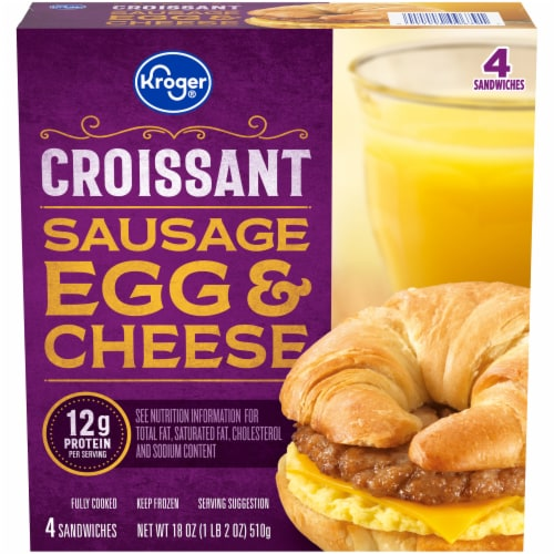 Kroger® Sausage Egg & Cheese Croissant Perspective: front