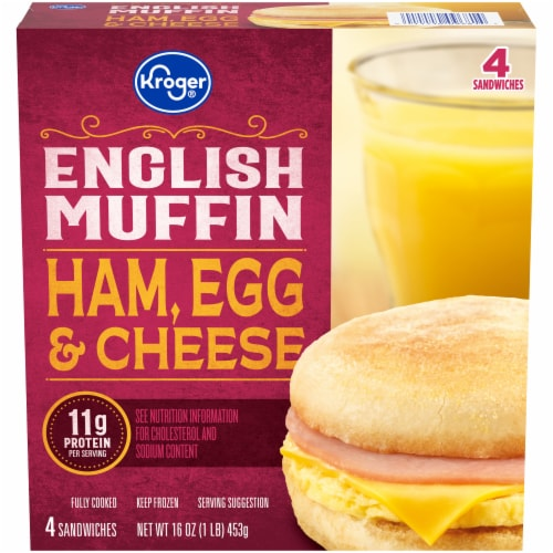 Kroger® Ham Egg & Cheese English Muffin Perspective: front