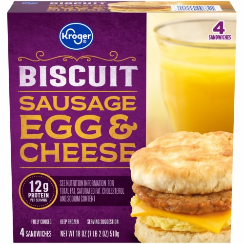 Kroger® Sausage Egg & Cheese Biscuit Perspective: front