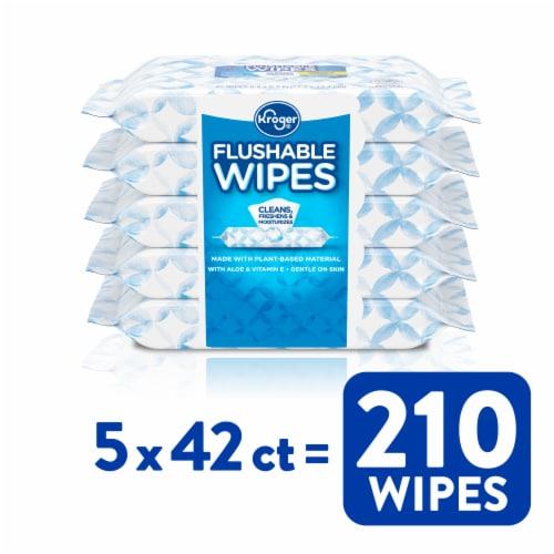 Kroger® Flushable Wipes Perspective: front