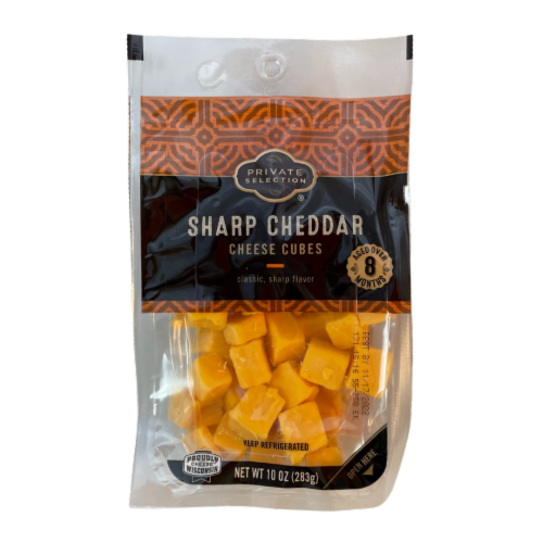 Private Selection® Sharp Cheddar Cheese Cubes Perspective: front