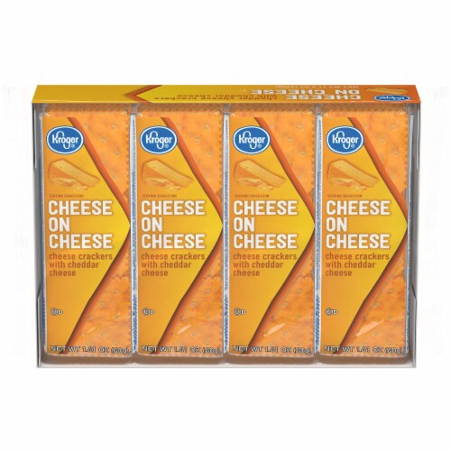 Kroger® Cheese on Cheese Sandwich Crackers Perspective: front