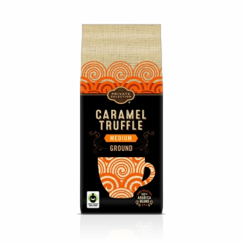 Private Selection® Fair Trade Caramel Truffle Medium Roast Ground Coffee Perspective: front