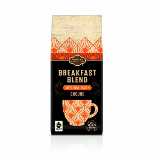 Private Selection® Fair Trade Breakfast Blend Ground Medium-Dark Roast Coffee Perspective: front
