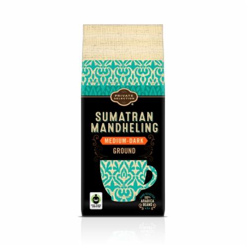 Private Selection® Fair Trade Sumatran Mandheling Medium-Dark Roast Ground Coffee Perspective: front