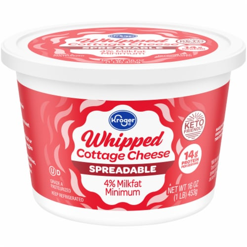 Kroger® 4% Whipped Cottage Cheese Perspective: front