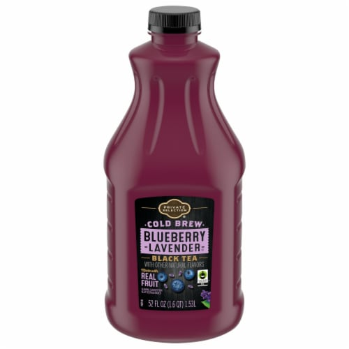 Private Selection® Cold Brew Blueberry Lavender Black Tea Perspective: front