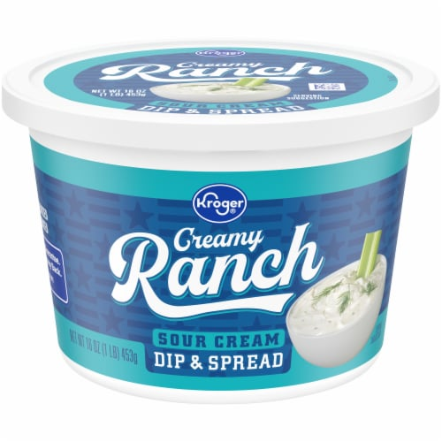 Kroger® Creamy Ranch Sour Cream Dip & Spread Perspective: front