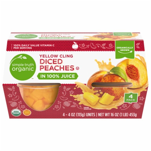 Simple Truth Organic™ Yellow Cling Diced Peaches Perspective: front