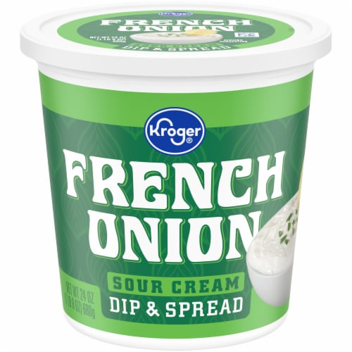 Kroger® French Onion Sour Cream Dip & Spread Perspective: front