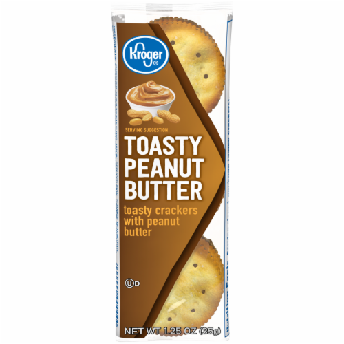 Kroger® Toasty Peanut Butter Sandwich Crackers Perspective: front