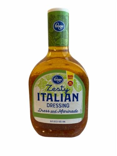 Kroger® Fat Free Zesty Italian Salad Dressing Perspective: front