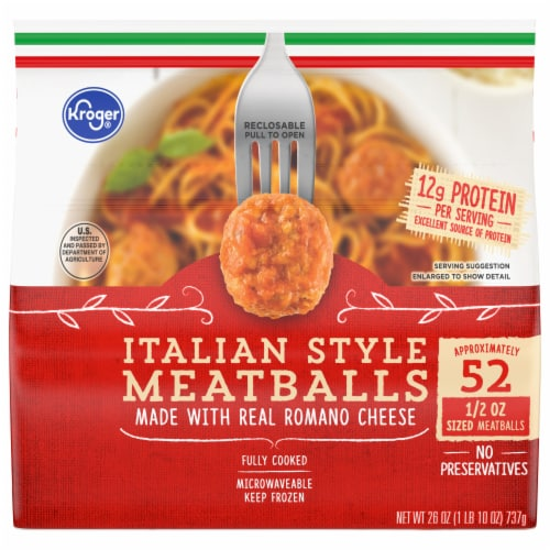 Kroger® Fully Cooked Italian Style Meatballs Perspective: front