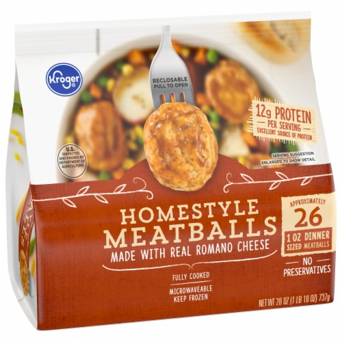 Kroger® Fully Cooked Homestyle Meatballs Perspective: front
