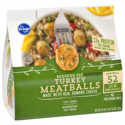 Kroger® Turkey Meatballs with Romano Cheese Perspective: front