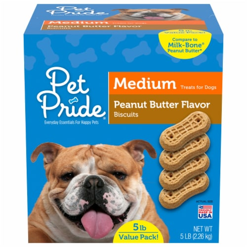 Pet Pride® Peanut Butter Flavored Medium Dog Biscuits Perspective: front