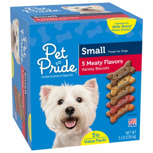 Pet Pride® 5 Meaty Flavor Small Dog Biscuits Perspective: front