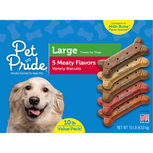 Pet Pride® 5 Meaty Flavors Large Dog Biscuits Perspective: front