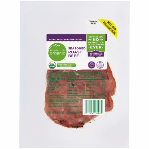 Simple Truth Organic® Gluten Free Seasoned Roast Beef Perspective: front