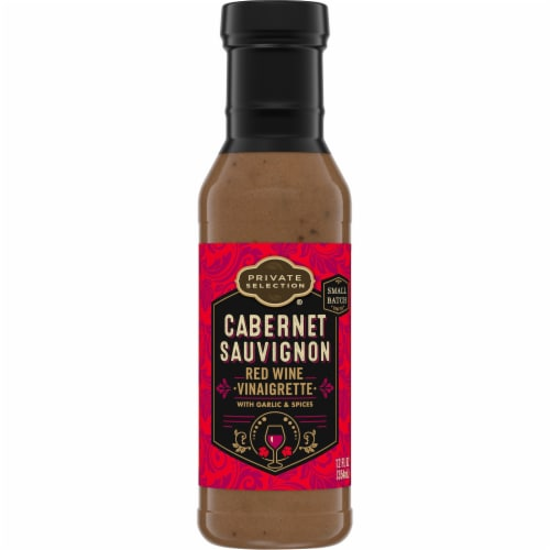 Private Selection® Cabernet Sauvignon Red Wine Viniagrette Dressing Perspective: front