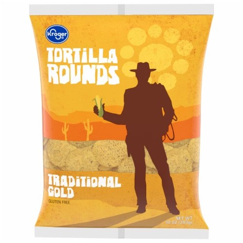 Kroger® Traditional Gold Round Tortilla Chips Perspective: front