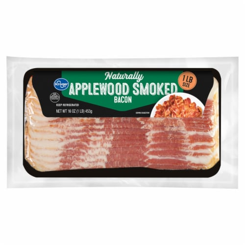 Kroger® Naturally Applewood Smoked Bacon Perspective: front