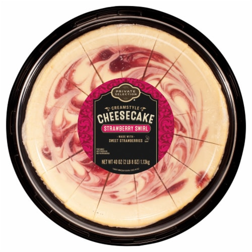 Private Selection® Strawberry Swirl Creamstyle Cheesecake Perspective: front