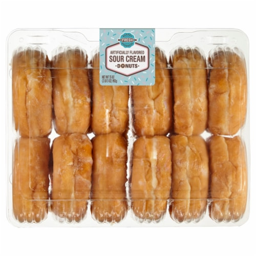 Bakery Fresh Goodness Sour Cream Donuts 12 Count Perspective: front
