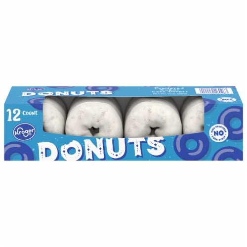 Kroger® Powdered Cake Donuts 12 Count Perspective: front