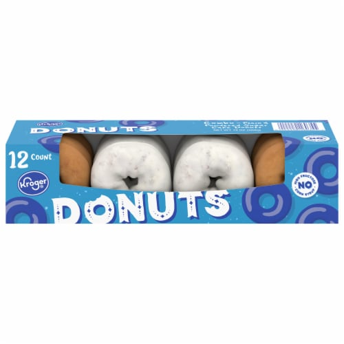 Kroger® Plain & Powdered Cake Donuts Perspective: front