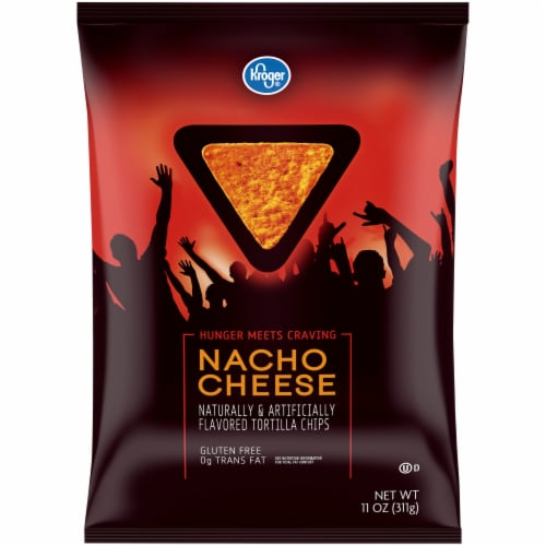 Kroger® Nacho Cheese Tortilla Chips Perspective: front