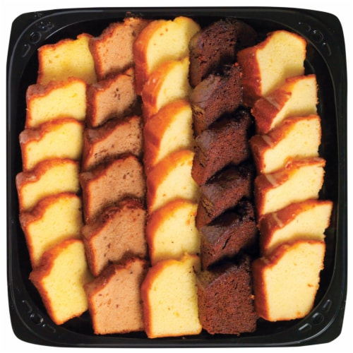 Bakery Party Tray Assorted Cakes Perspective: front
