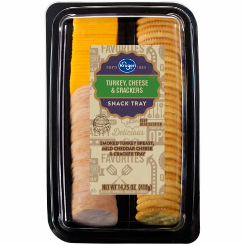 Kroger® Turkey Cheese & Crackers Snack Tray Perspective: front
